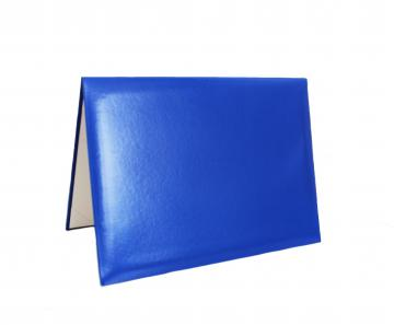 Porte-Diplôme Premium Non Marqué 4 Coins- Bleu Royal