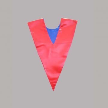 Vue de dos-Côté Rouge-Echarpe en V