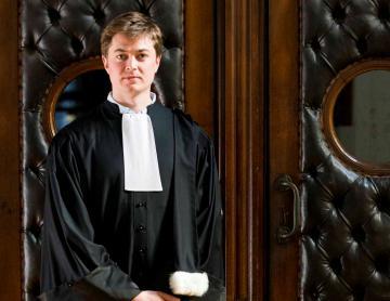 Tenue d'avocat complète en cachemire - Epitoge simple