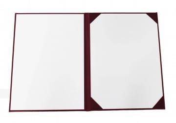 Porte-Diplôme Premium Non Marqué 4 Coins - Lie de Vin