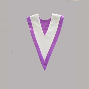 Vue de dos-Blanc avec liséré violet