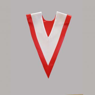 Vue de dos-Blanc avec liséré rouge