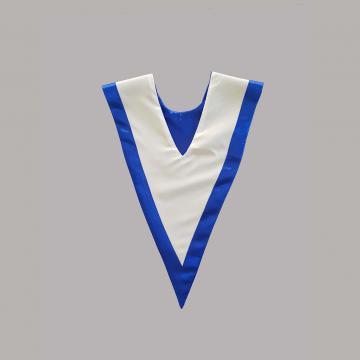 Vue de dos-Blanc avec liséré bleu roi